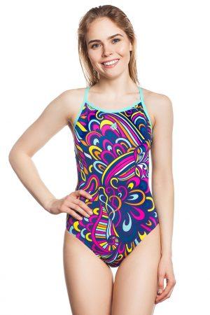 Sieviešu sporta peldkostīms MOSAIC